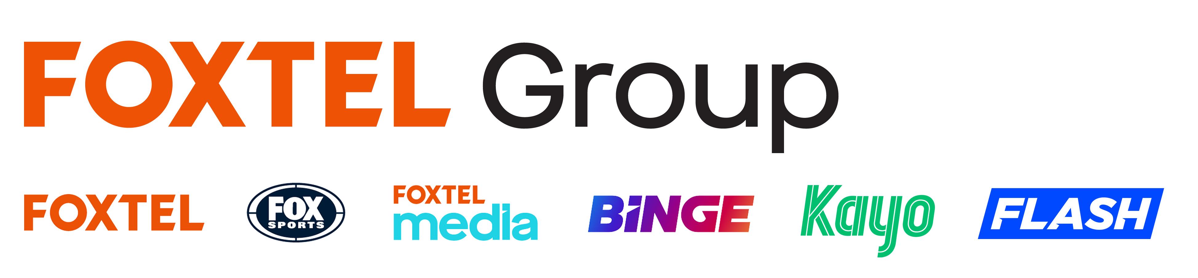 Foxtel Logo with brand logos